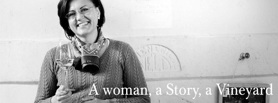 A woman, a Story, a Vineyard